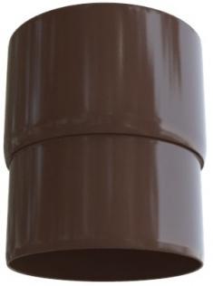 Муфта трубы для водосточной системы, Элит (цвет коричневый)