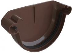 Заглушка ПВХ Элит (цвет коричневый)